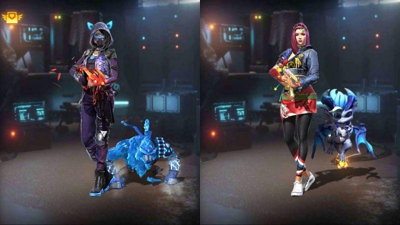 Ajjubhai (Total Gaming) and Miss Diya (Blackpink Gaming) in Garena Free Fire
