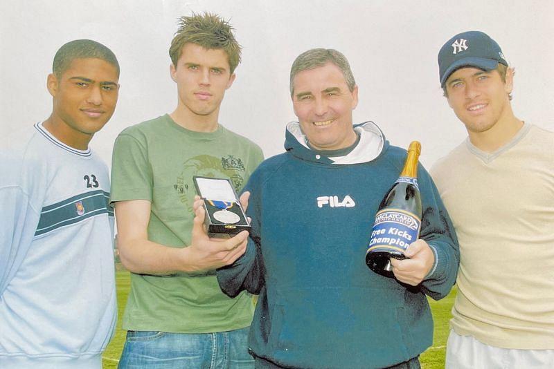 (left to right) Glen Johnson, Michael Carrick, Tony Carr, Joe Cole