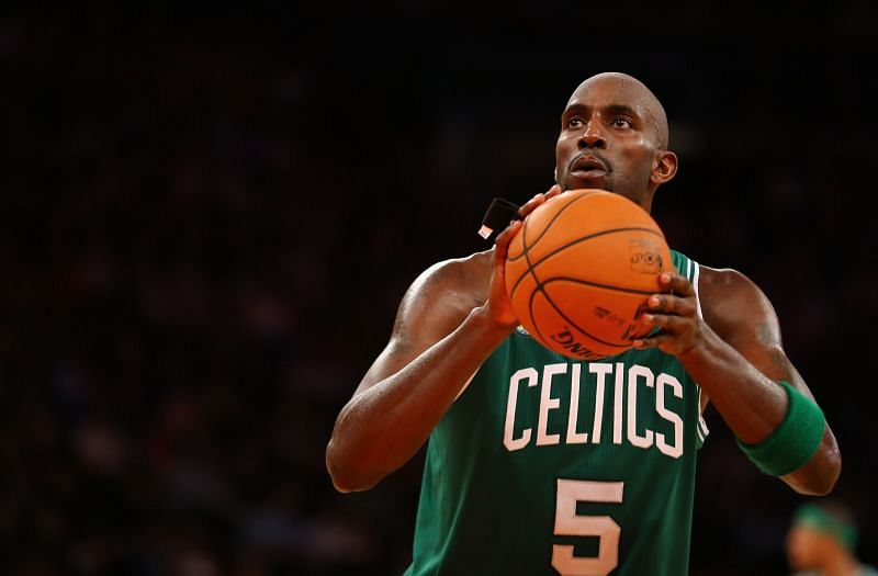 Kevin Garnett with the Boston Celtics