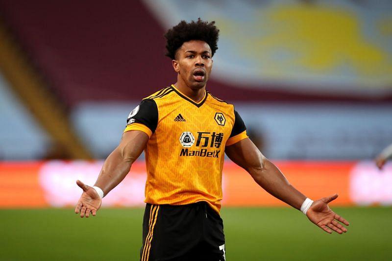 Adama Traore in Wolverhampton Wanderers colours