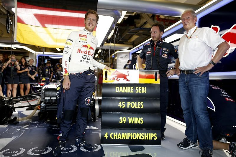 Vettel won 4 world championships with Red Bull. (Photo by Getty Images/Getty Images)