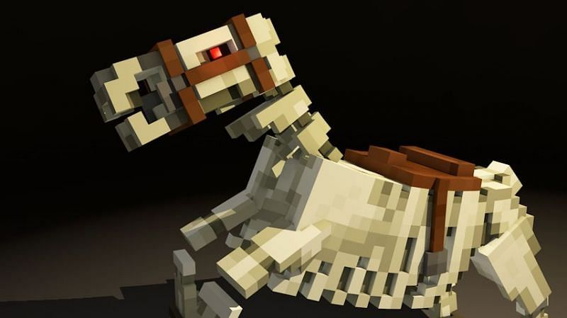 Skeleton horses are different from other mobs seen in Minecraft (Image via Pinterest)