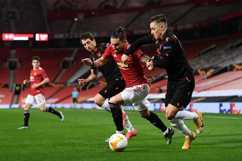 Alex Telles has failed to establish himself at Man Utd. (Photo by Laurence Griffiths/Getty Images)