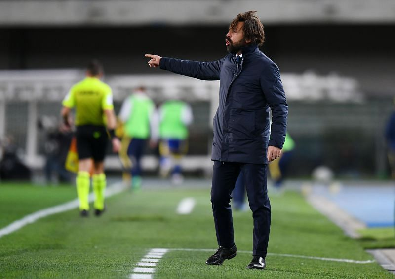 Juventus manager Andrea Pirlo. (Photo by Alessandro Sabattini/Getty Images )