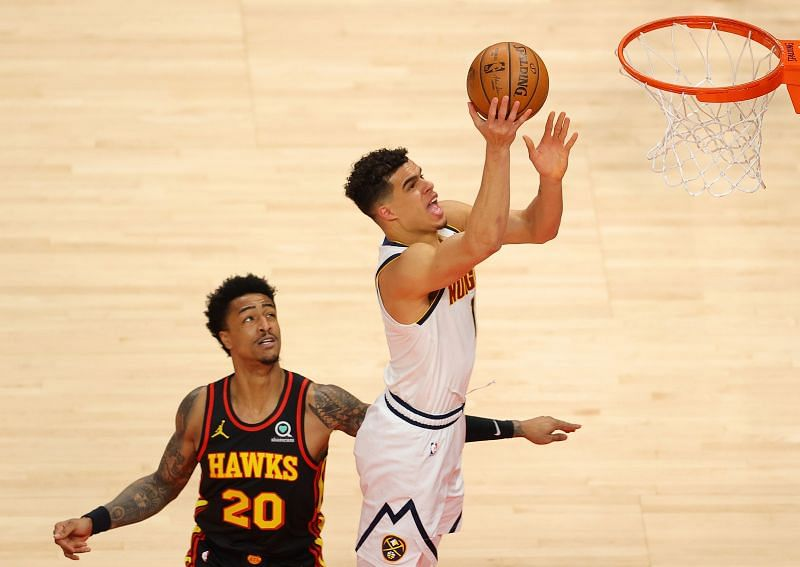 Michael Porter Jr. #1 of the Denver Nuggets in action.
