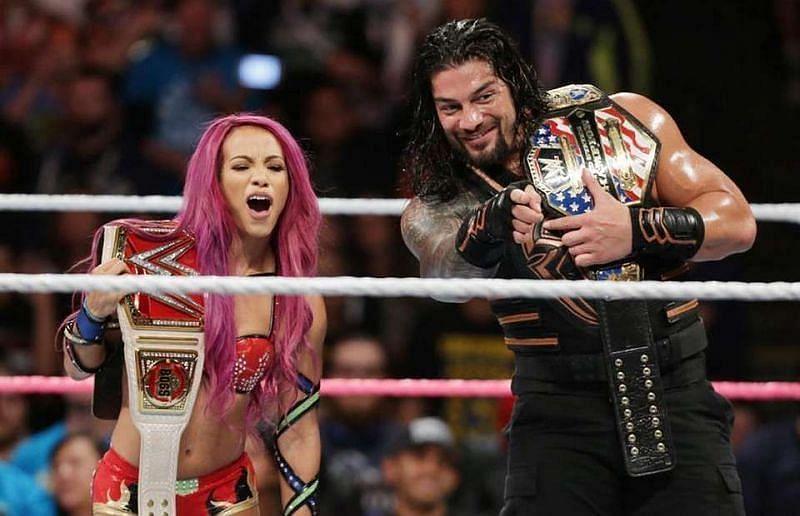 Sasha Banks and Roman Reigns
