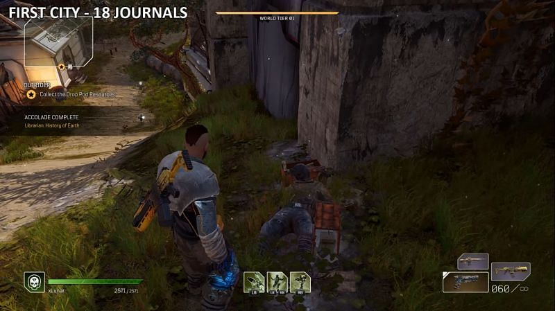 All Outrdiers Journal locations on First City Map (Image via LunarGaming)