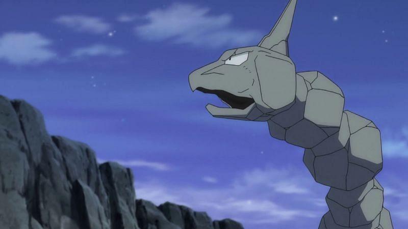 Onix in the anime (Image via The Pokemon Company)