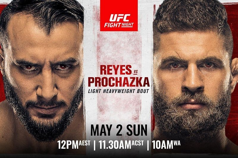 Dominick Reyes (left) faces Jiri Prochazka (right) in this weekend