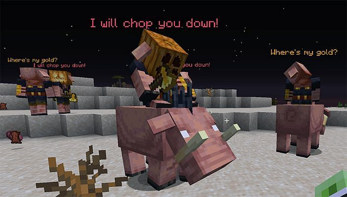 Piglins riding hoglins in Minecraft (Image via spigotmc.org)