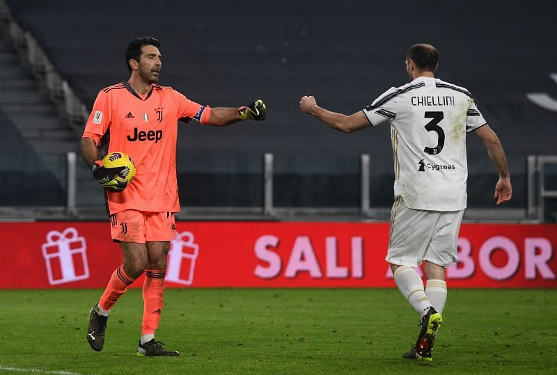 Giorgio Chiellini and Gianluigi Buffon have played together at Juventus for over a decade
