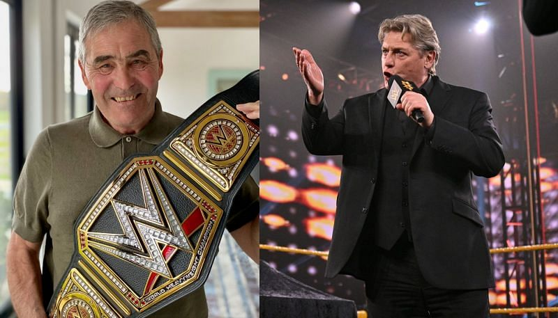 Tony Carr with the WWE Championship; William Regal