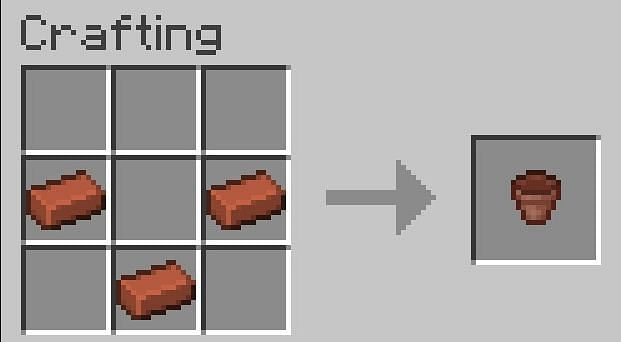 Flower pots in Minecraft exclusively need bricks to craft