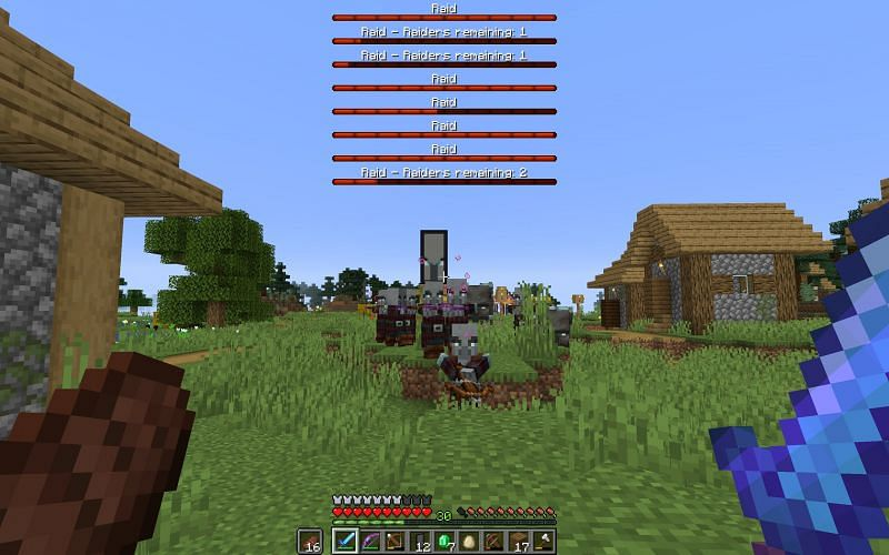 Illagers attacking a village (Image via Reddit)