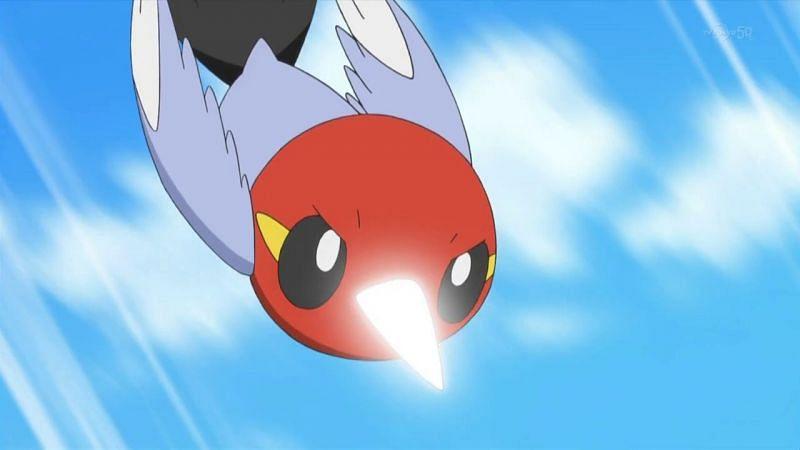 A Pokemon using Drill Peck in the anime (Image via The Pokemon Company)