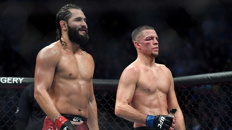 Nate Diaz (right) with Jorge Masvidal