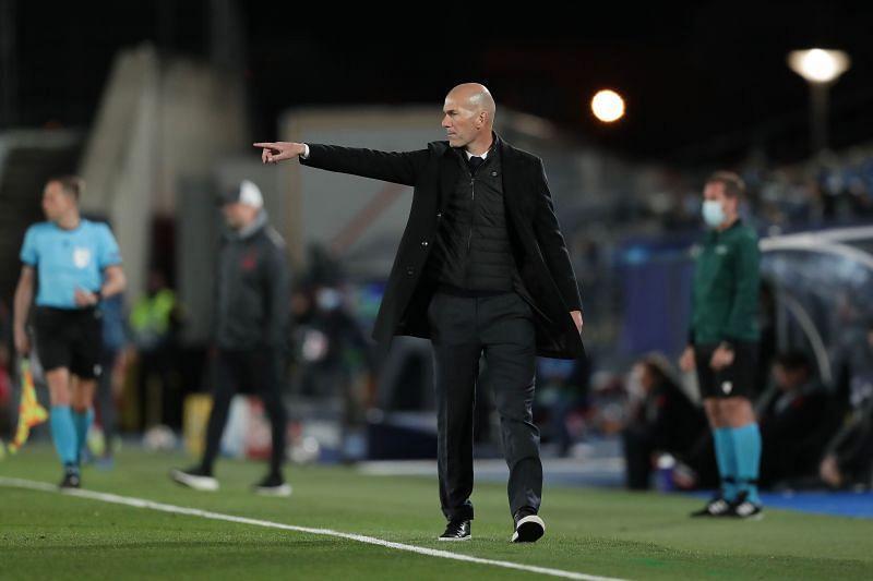 Real Madrid manager Zinedine Zidane (Photo by Gonzalo Arroyo Moreno/Getty Images)
