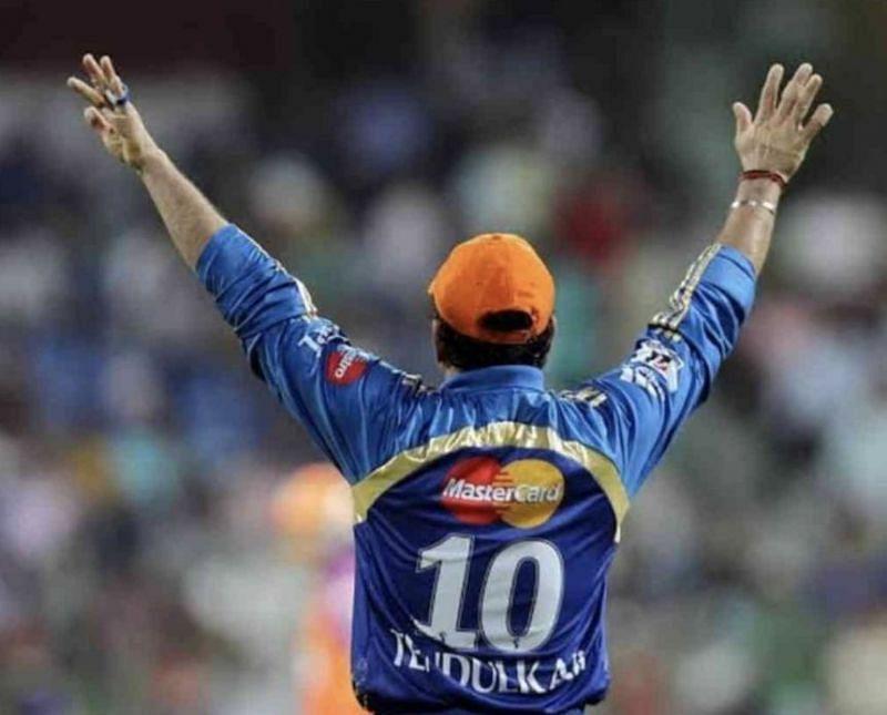 Sachin Tendulkar sports the Orange Cap (Photo: BCCI)