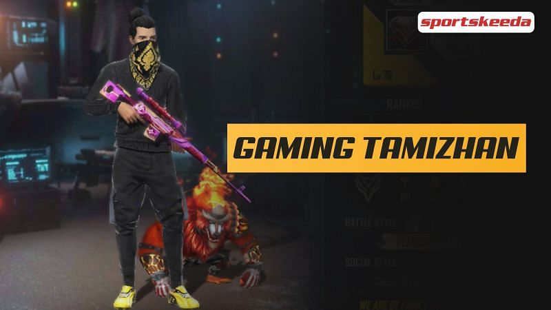 Gaming Tamizhan is a popular Indian Free Fire content creator (Image via Sportskeeda)