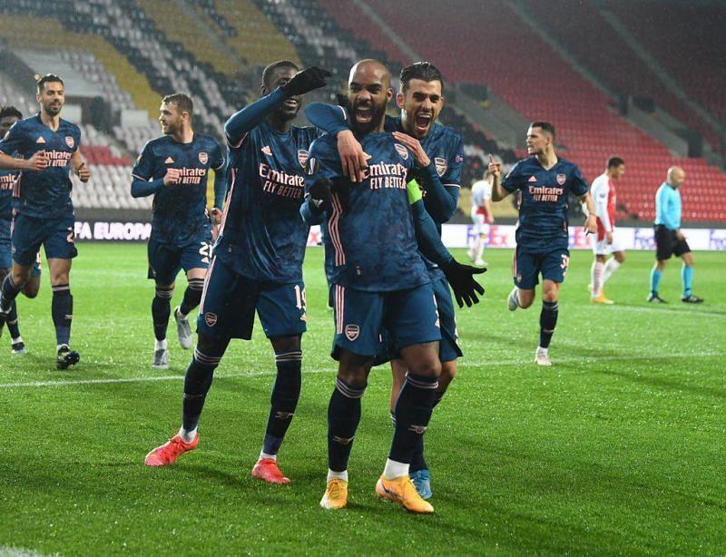 Arsenal are through to the UEFA Europa League semi-final after beating Slavia Prague