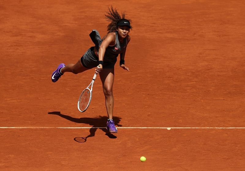 Naomi Osaka during her Madrid Open match against Misaki Doi