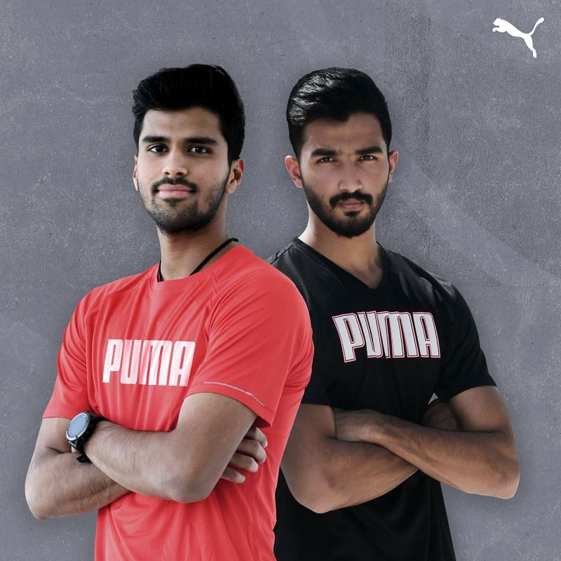 Washington Sundar (L) and Devdutt Padikkal have signed up with PUMA