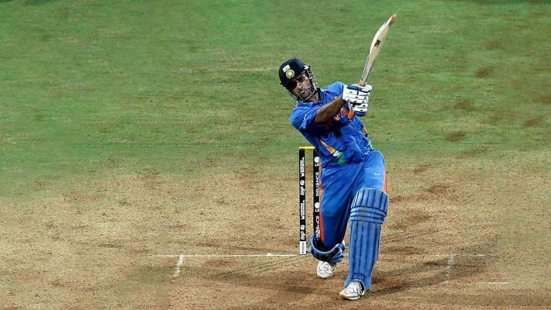 MS Dhoni finished things off in style against Sri Lanka, 10 years ago (Credits: ESPN Cricinfo)