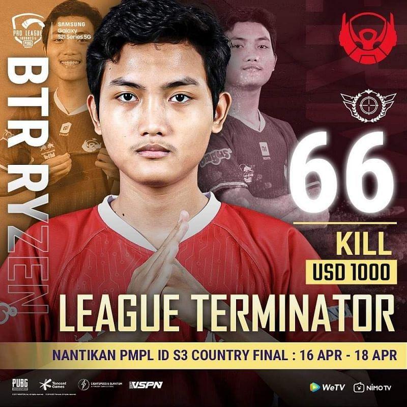 PMPL League stage Terminator