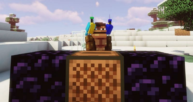 Introducing DJ Funke Munke and the Parrot Pals (Image via Minecraft