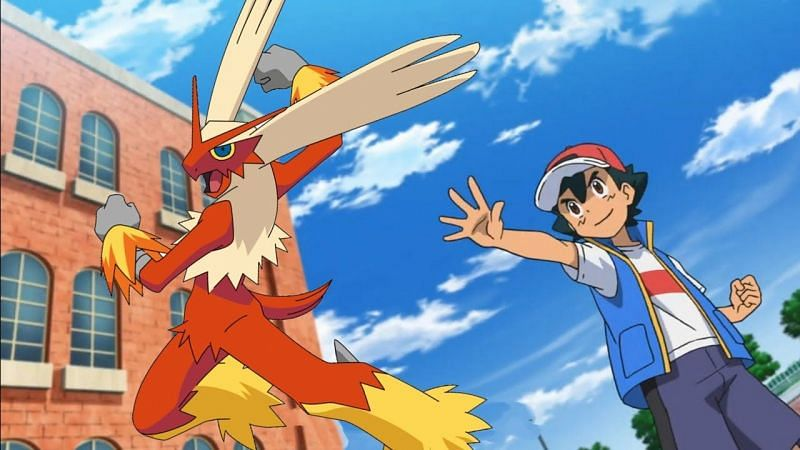 Blaziken evolves from the Fire chickadee Torchic (Image via The Pokemon Company)