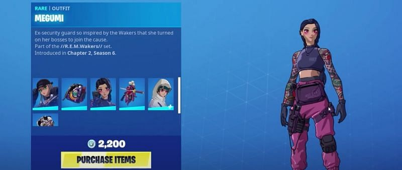 Megumi, Featured in Fortnite Cyber Infiltration Pack {Image via Epic Games}