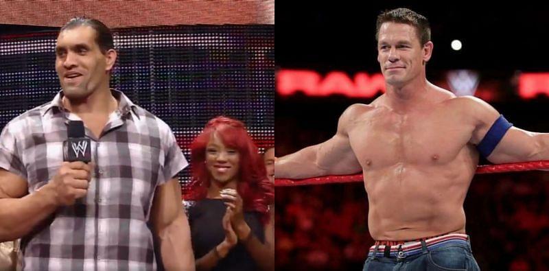 WWE दिग्गज जॉन सीना और द ग्रेट खली