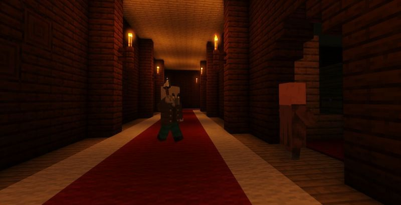 Shown: A Villager who is about to be vindicated (Image via Minecraft)