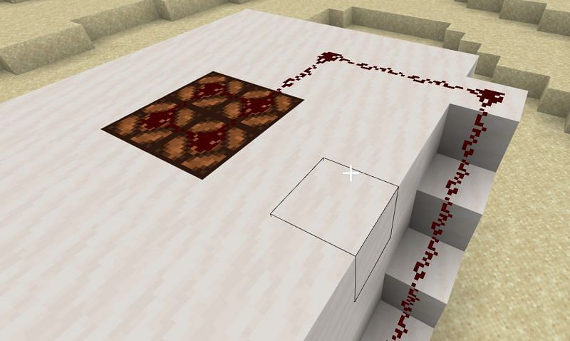 Next, you are going to make a 2x2 hole at the center of the roof of your house which you will then fill with your Redstone glass.