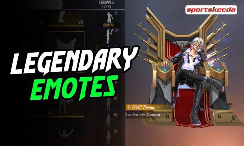 Legendary emotes in Free Fire (Image via Sportskeeda)