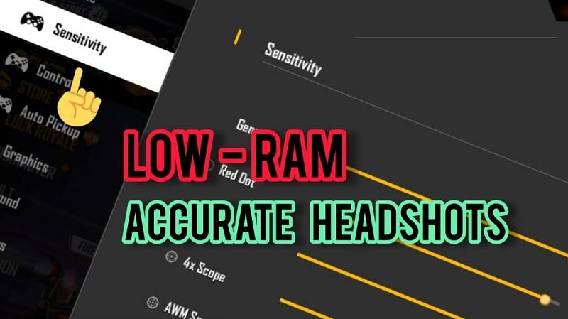 The best headshot sensitivity settings for low-end devices in Free Fire