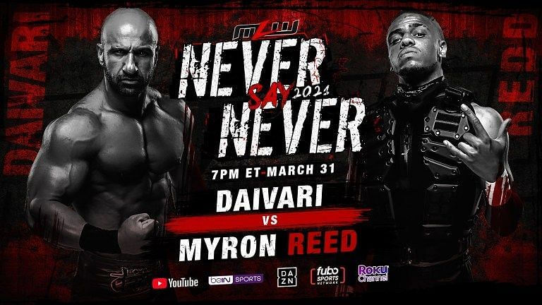 MLW Never Say Never Match Two: Daivari vs. Myron Reed