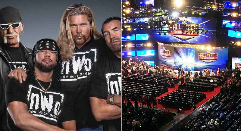 X-Pac with the nWo; WWE Hall of Fame ceremony