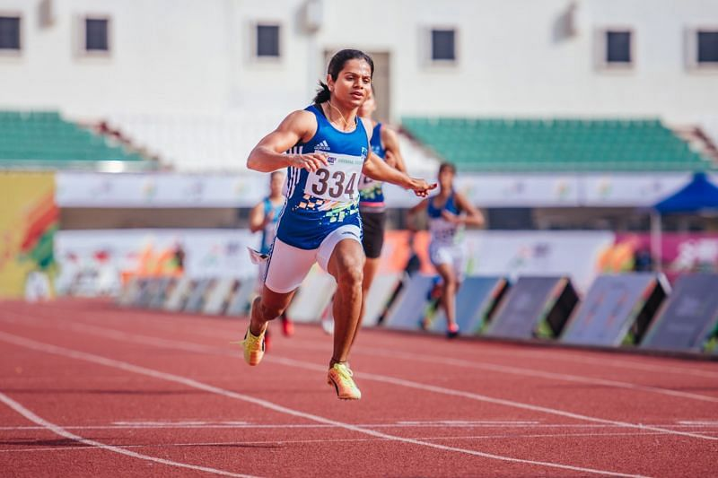 Dutee Chand in action. (Source: Bikash Nayak/Special Arrangement)