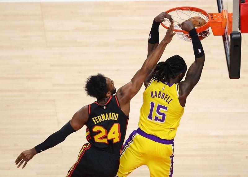 Montrezl Harrell (#15) of the LA Lakers