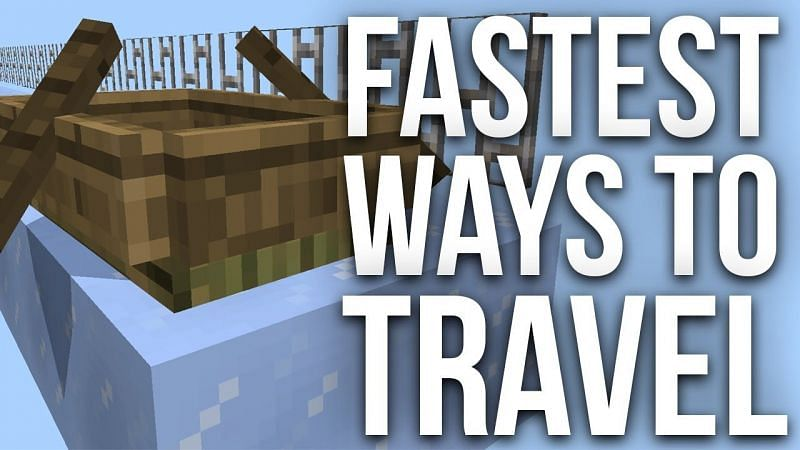 Players can use transportation methods to cover more areas in the Minecraft world at a faster speed (Image via OMGCraft on youtube)