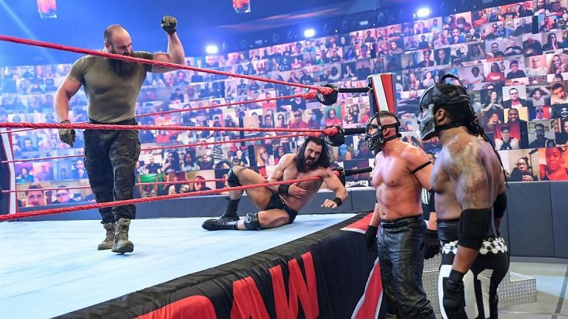 T-Bar and Mace defeated Braun Strowman and Drew McIntyre.