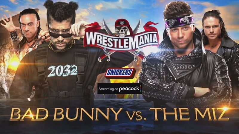 The match between Bad Bunny and The Miz sees a significant change on WWE RAW.