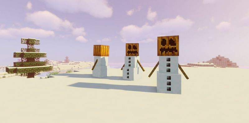 Snow Golems are a utility mob in Minecraft (Image via Minecraft)