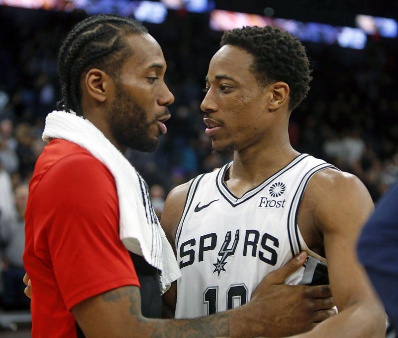 Kawhi Leonard and DeMar DeRozan are both available in the 2021 NBA free agency.