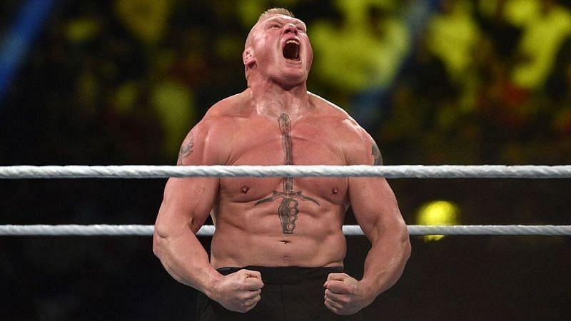 WWE में हो चुका है ब्रॉक लैसनर और कर्ट एंगल का मैच