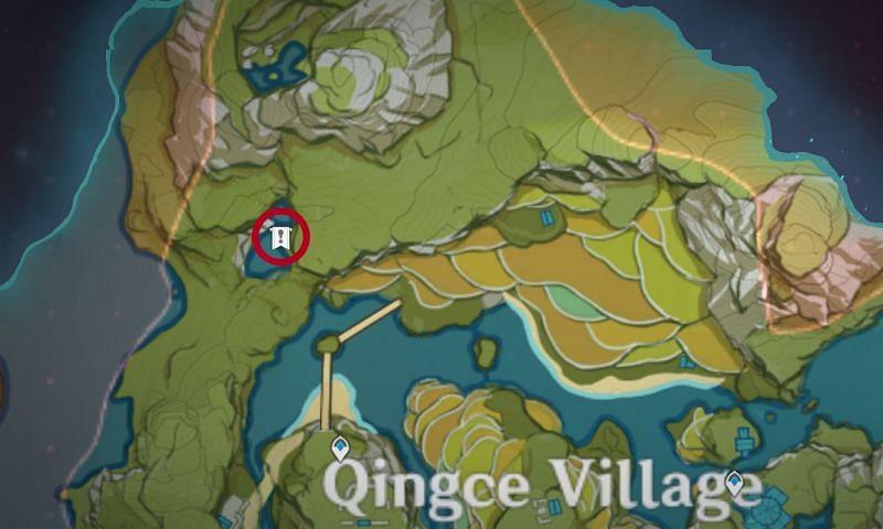 Genshin Impact Map: Waterfall location