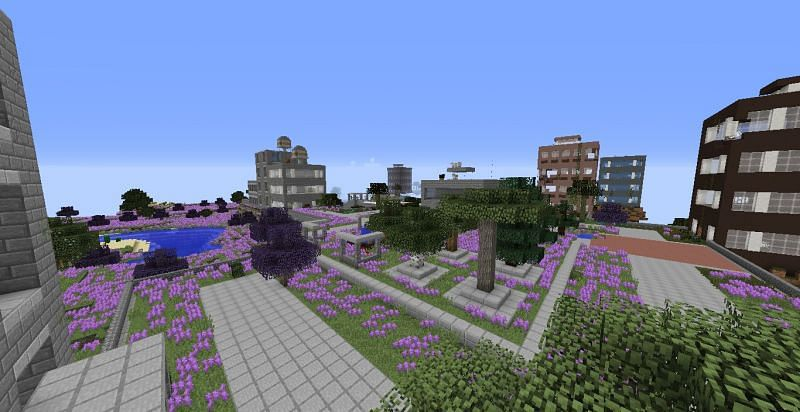 The Lost Cities mod (Image via Minecraft)