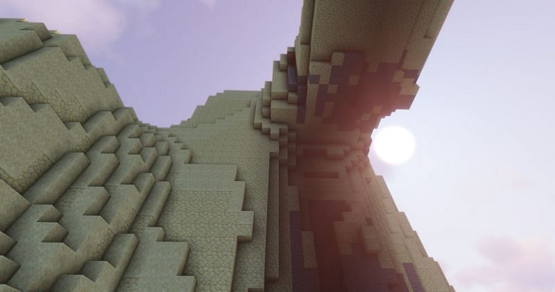 Shown: A beautiful image captured in a Desert Hills biome (Image via Minecraft)
