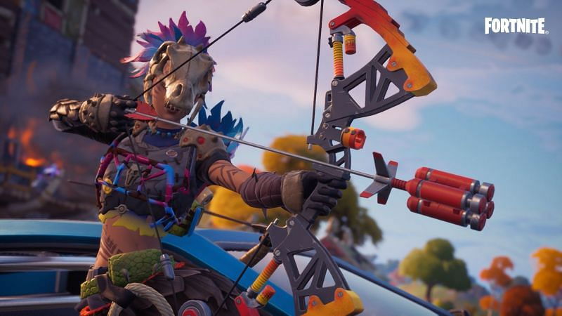 A crafted bow in the game (Image via Epic Games)